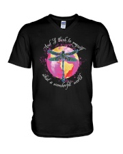 And I Think To Myself D01029 V-Neck T-Shirt thumbnail
