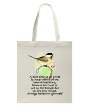 A Bird Sitting On A Tree D01111 Tote Bag thumbnail