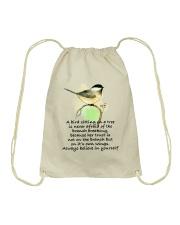 A Bird Sitting On A Tree D01111 Drawstring Bag thumbnail