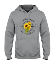 And I Think To Myself D0591 Hooded Sweatshirt front