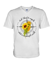 And I Think To Myself D0591 V-Neck T-Shirt thumbnail