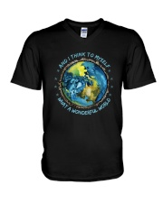 And I Think To Myself D0964 V-Neck T-Shirt thumbnail