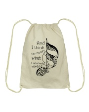 And I Think To Myself Drawstring Bag thumbnail