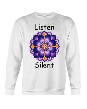 Listen Silent Crewneck Sweatshirt thumbnail