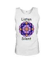 Listen Silent Unisex Tank thumbnail