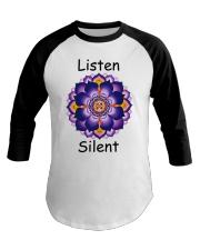 Listen Silent Baseball Tee thumbnail