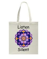 Listen Silent Tote Bag thumbnail