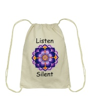 Listen Silent Drawstring Bag tile