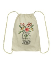 I Must Have Flowers Always And Always Hippie D0088 Drawstring Bag thumbnail