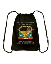On A Dark Desert Highway A0060 Drawstring Bag thumbnail