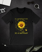Be A Sunflower Classic T-Shirt lifestyle-mens-crewneck-front-16