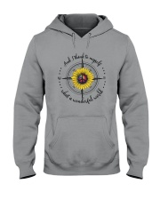 And I Think To Myself D0590 Hooded Sweatshirt front