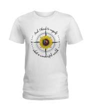 And I Think To Myself D0590 Ladies T-Shirt thumbnail