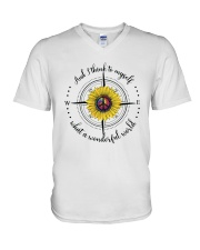 And I Think To Myself D0590 V-Neck T-Shirt thumbnail