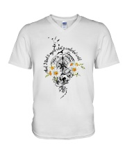 And I Think To Myself D0992 V-Neck T-Shirt tile