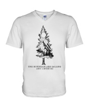 The Mountains Are Calling V-Neck T-Shirt tile