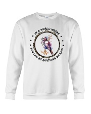 In A World Where You Can Be D0907 Crewneck Sweatshirt thumbnail
