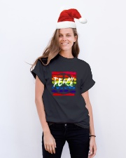 Teach Peace D01068 Classic T-Shirt lifestyle-holiday-crewneck-front-1