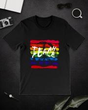 Teach Peace D01068 Classic T-Shirt lifestyle-mens-crewneck-front-16