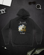 In A World Where You Can Be D0572 Hooded Sweatshirt lifestyle-unisex-hoodie-front-9