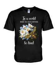 In A World Where You Can Be D0572 V-Neck T-Shirt thumbnail