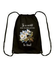 In A World Where You Can Be D0572 Drawstring Bag thumbnail