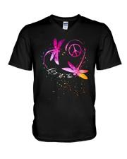 Let It Be D0493 V-Neck T-Shirt thumbnail