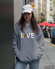 Love One Another Hooded Sweatshirt lifestyle-unisex-hoodie-front-5