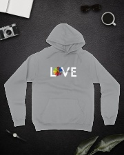 Love One Another Hooded Sweatshirt lifestyle-unisex-hoodie-front-9