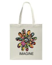 Imagine Flowers Hippie D0063 Tote Bag thumbnail