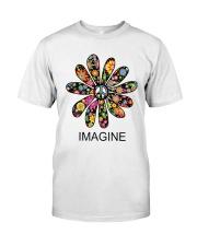 Imagine Flowers Hippie D0063 Classic T-Shirt thumbnail