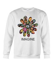 Imagine Flowers Hippie D0063 Crewneck Sweatshirt thumbnail