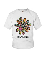 Imagine Flowers Hippie D0063 Youth T-Shirt thumbnail