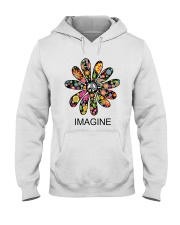 Imagine Flowers Hippie D0063 Hooded Sweatshirt front
