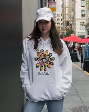 Imagine Flowers Hippie D0063 Hooded Sweatshirt lifestyle-unisex-hoodie-front-5