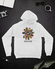 Imagine Flowers Hippie D0063 Hooded Sweatshirt lifestyle-unisex-hoodie-front-9