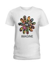Imagine Flowers Hippie D0063 Ladies T-Shirt thumbnail
