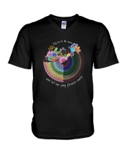 Fly Me To The Moon D0806 V-Neck T-Shirt thumbnail