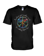 Freedom's Just Another Word D0709 V-Neck T-Shirt thumbnail