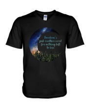 Freedom's Just Another Word D0352 V-Neck T-Shirt thumbnail
