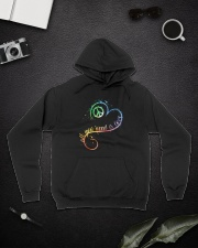 All You Need Is Love Hooded Sweatshirt lifestyle-unisex-hoodie-front-9