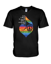 And I Think To Myself D01018 V-Neck T-Shirt thumbnail