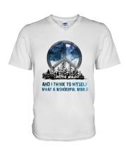 Myself What A Wonderful World V-Neck T-Shirt thumbnail