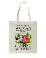 I Like Camping And Wine Tote Bag tile