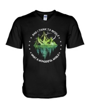 And I Think To Myself D0597 V-Neck T-Shirt thumbnail
