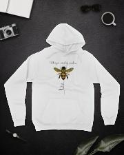 Whisper Words Of Wisdom A0154 Hooded Sweatshirt lifestyle-unisex-hoodie-front-9