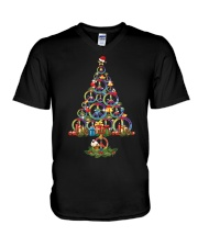 Hippie Tree  V-Neck T-Shirt tile