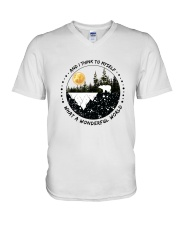 And I Think To Myself D0891 V-Neck T-Shirt thumbnail