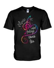 Music Is What Feelings Sound Like D0211 V-Neck T-Shirt thumbnail