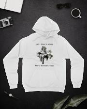 Myself What A Wonderful World Hooded Sweatshirt lifestyle-unisex-hoodie-front-9